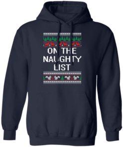 redirect 1894 247x296px On The Naughty List Christmas Shirt
