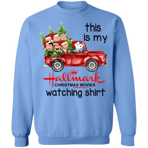 redirect 393 2 490x490px Snoopy This Is My Hallmark Christmas Movies Watching Shirt