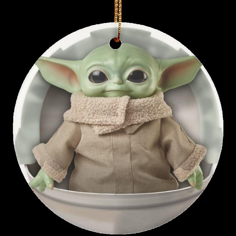 redirect 4 1 750x750px Baby Yoda Ceramic Circle Ornament