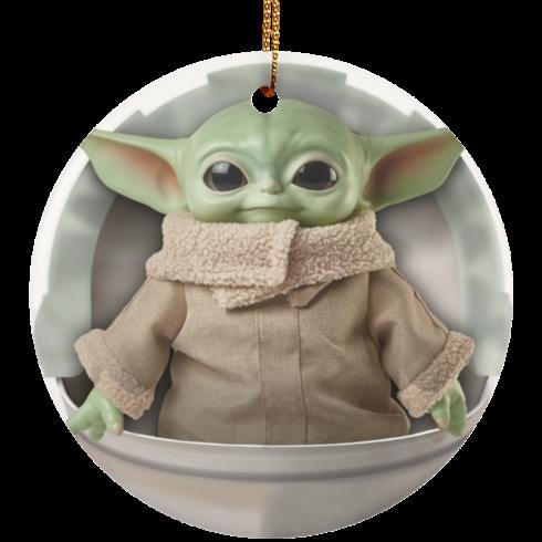redirect 4 2 490x490px Baby Yoda Ceramic Circle Ornament