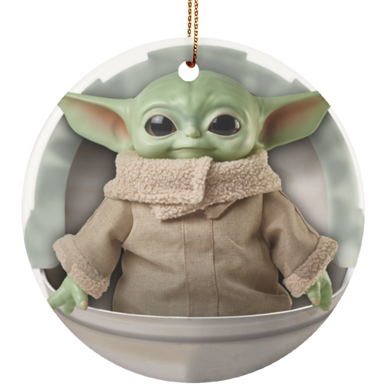 redirect 4 2 750x750px Baby Yoda Ceramic Circle Ornament