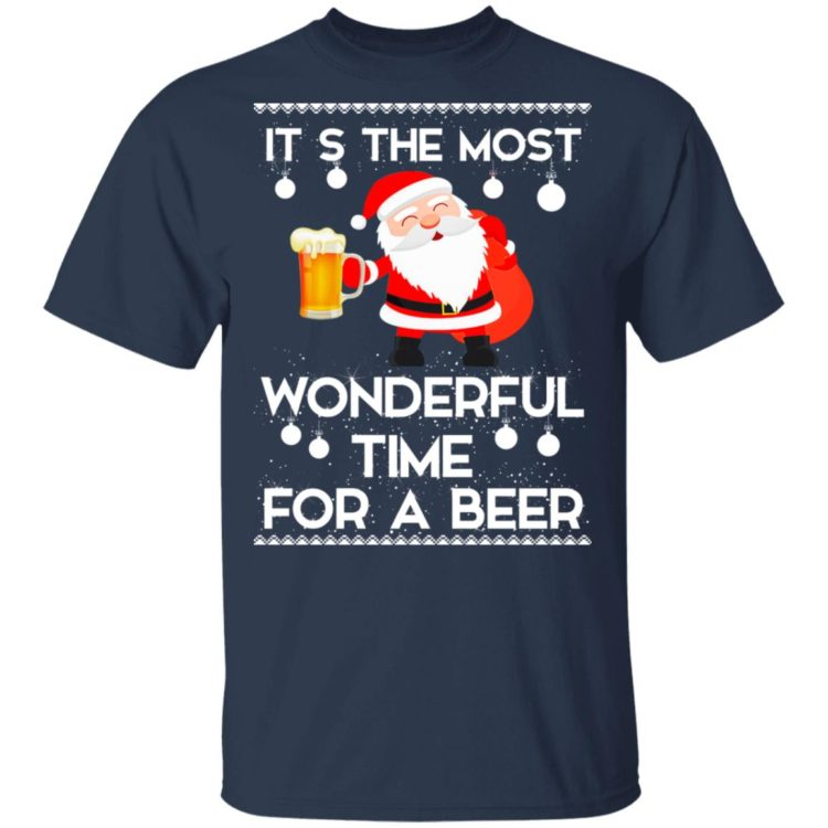redirect 450 2 750x750px Santa It's The Most Wonderful Time Tor A Beer Shirt
