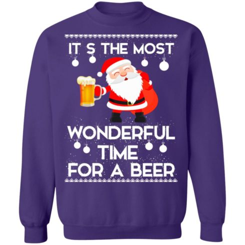redirect 459 2 490x490px Santa It's The Most Wonderful Time Tor A Beer Shirt