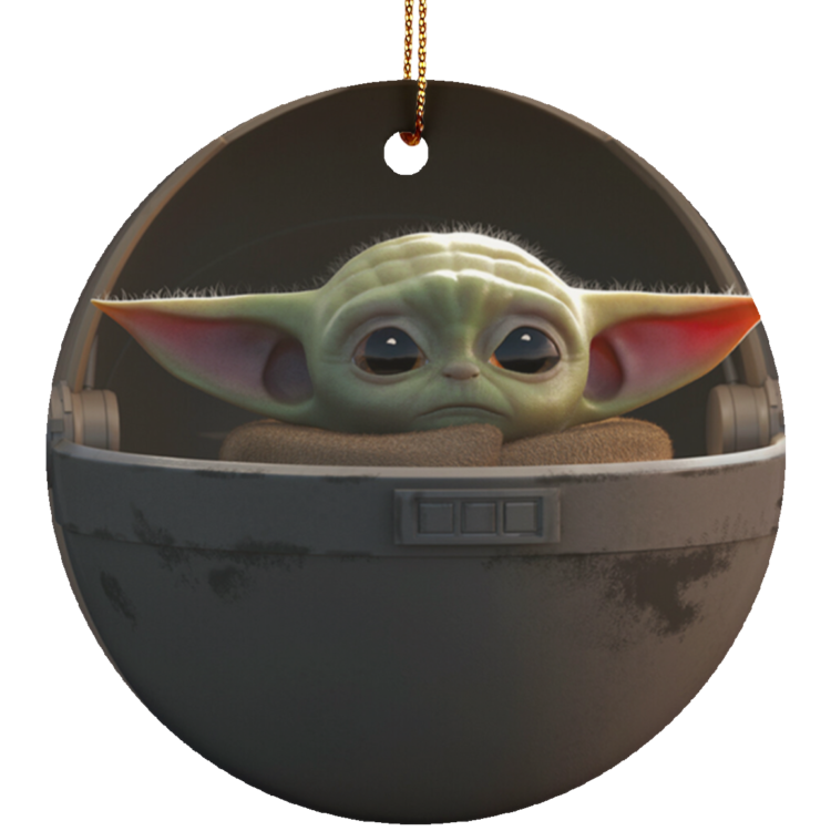 redirect 5 4 750x750px Baby Yoda Ceramic Circle Ornament for Christmas