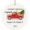 redirect 8 100x100px Our First Christmas As Mr & Mrs Personalized Ceramic Circle Ornament