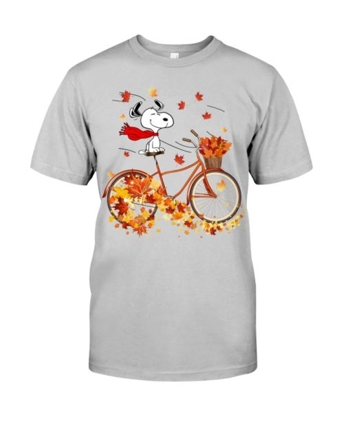 regular 305 490x613px Snoopy in Bicycle & Maple leaves Shirt