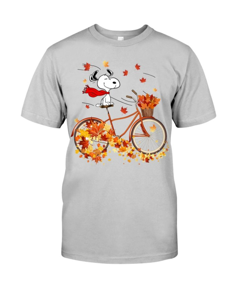 regular 305 750x938px Snoopy in Bicycle & Maple leaves Shirt