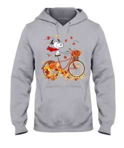 regular 307 247x296px Snoopy in Bicycle & Maple leaves Shirt