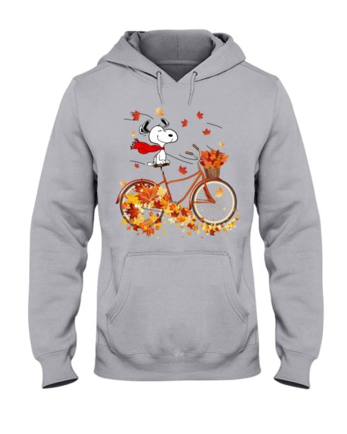 regular 307 490x613px Snoopy in Bicycle & Maple leaves Shirt