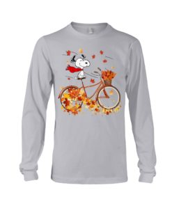 regular 310 247x296px Snoopy in Bicycle & Maple leaves Shirt