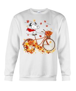 regular 311 247x296px Snoopy in Bicycle & Maple leaves Shirt
