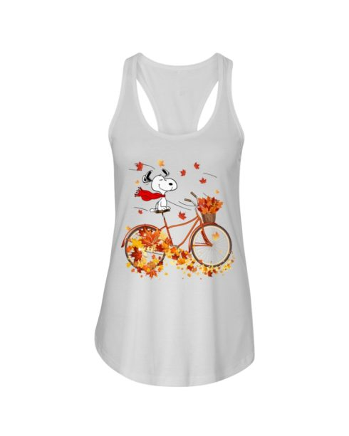 regular 312 490x613px Snoopy in Bicycle & Maple leaves Shirt