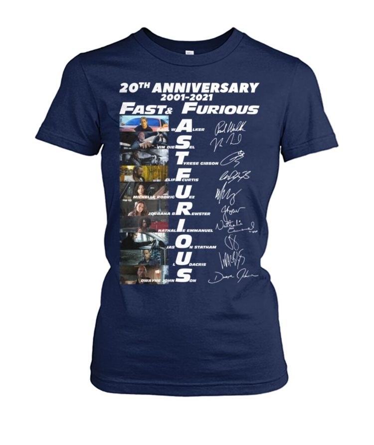 voRE9K OKGR6oL 2Mr0Pbz front large 750x892px 20th Anniversary 2001 2021 Fast & Furious Shirt