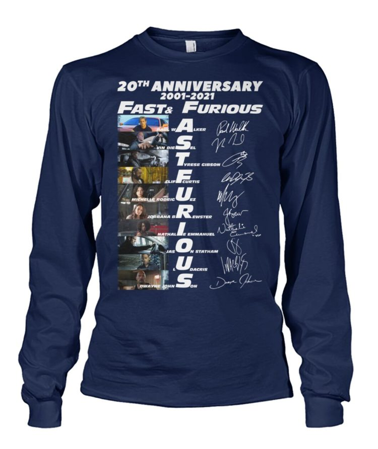 voRE9K QkGqlxY VkR714W front large 750x892px 20th Anniversary 2001 2021 Fast & Furious Shirt