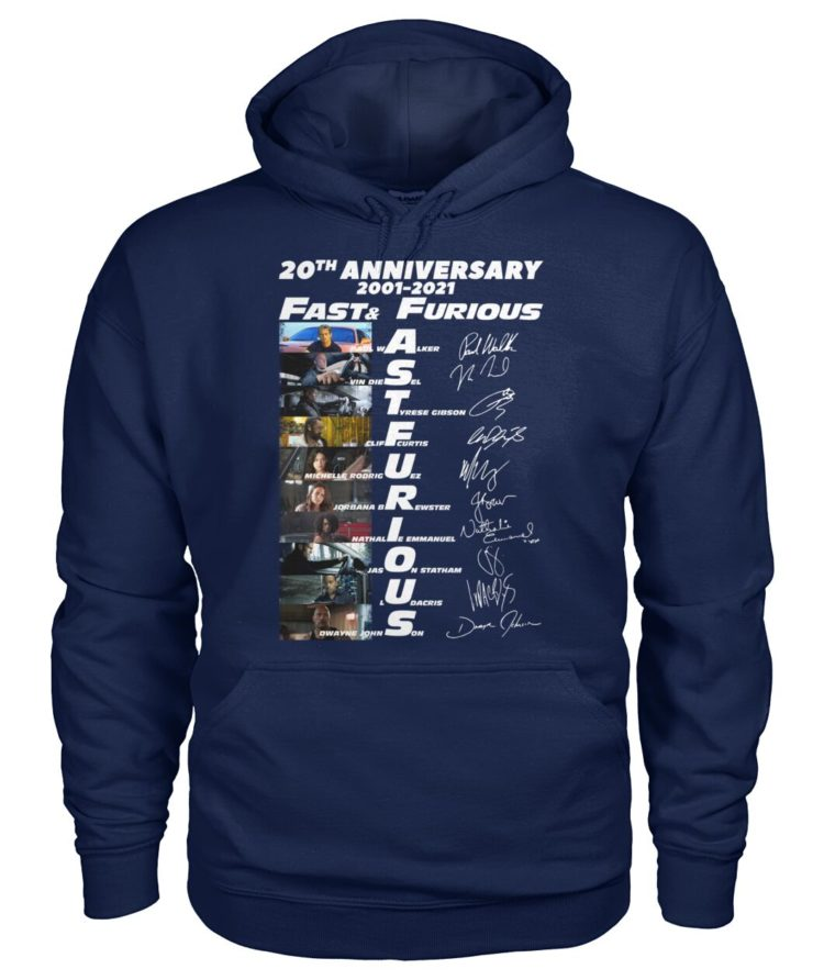 voRE9K paW296b vonV8wz front large 750x892px 20th Anniversary 2001 2021 Fast & Furious Shirt