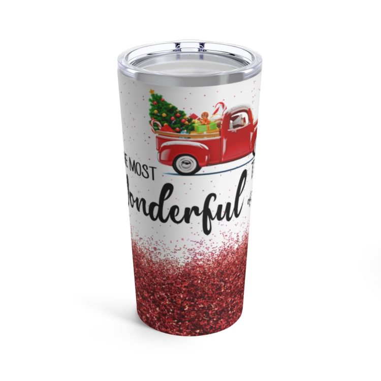 44519 6 750x750px It's The Most Wonderful Time Of The Year Tumbler 20oz