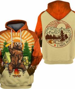 Fun Bear 3D Hooded Sweatshirt Cool Sweatshirt Camping pullover I HATE PEOPLE 2.jpg q50 2 247x296px Bear Camping I Hate People 3D Printed Shirt