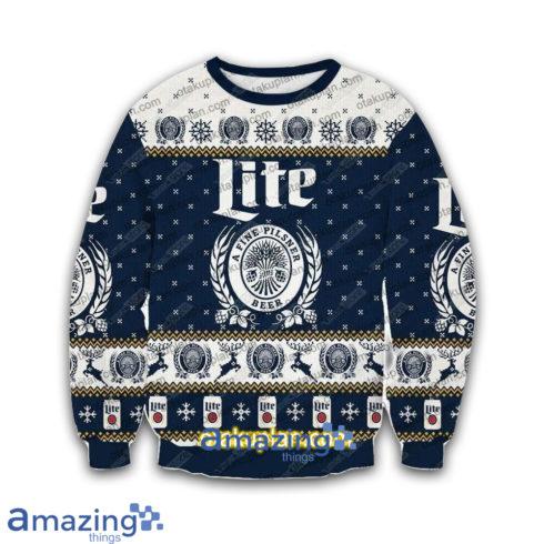 Miller Lite A Fine Pilsner 3 D Printed Christmas Sweatshirt 490x490px Miller Lite A Fine Pilsner 3D Printed Christmas Sweatshirt