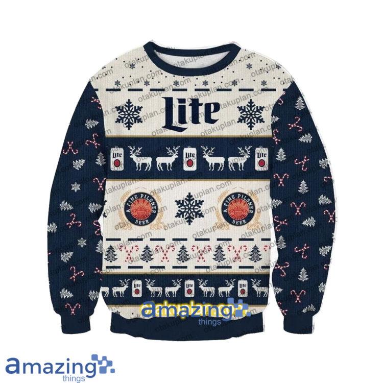 Miller Lite Beer 3 D Printed Christmas Sweatshirt1 1 750x750px Miller Lite Beer 3D Printed Christmas Sweatshirt