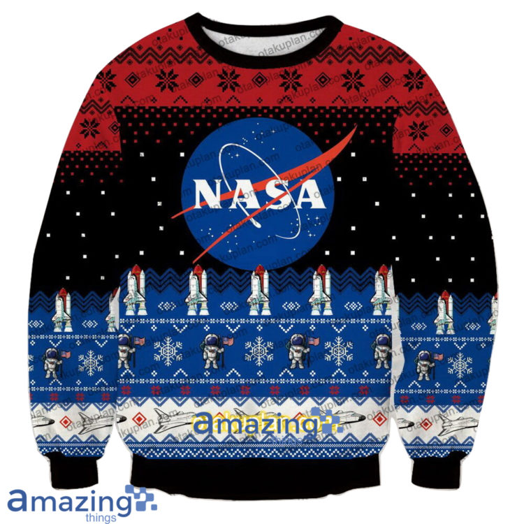 Nasa Logo 3 D Printed Christmas Sweatshirt 750x750px Nasa Logo 3D Printed Christmas Sweatshirt