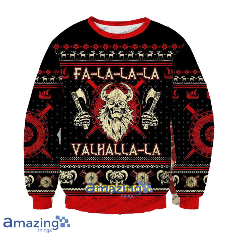 Viking Valhalla la 3 D Printed Christmas Sweatshirt 750x750px Viking Valhalla la 3D Printed Christmas Sweatshirt