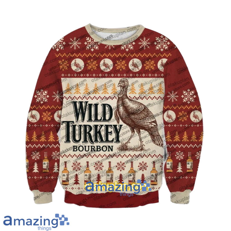 Wild Turkey Bourbon V2 3 D Printed Christmas Sweatshirt 1 750x750px Wild Turkey Bourbon V2 3D Printed Christmas Sweatshirt