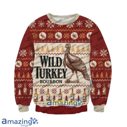 Wild Turkey Bourbon V2 3 D Printed Christmas Sweatshirt 490x490px Wild Turkey Bourbon V2 3D Printed Christmas Sweatshirt