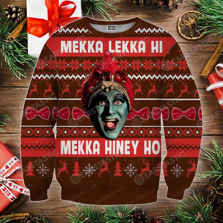 eaf8f1cd46456dffd10dd7982804c292 750x750px Peewee 3D Christmas Sweatshirt Mekka Lekka Hi Mekka Hiney Ho