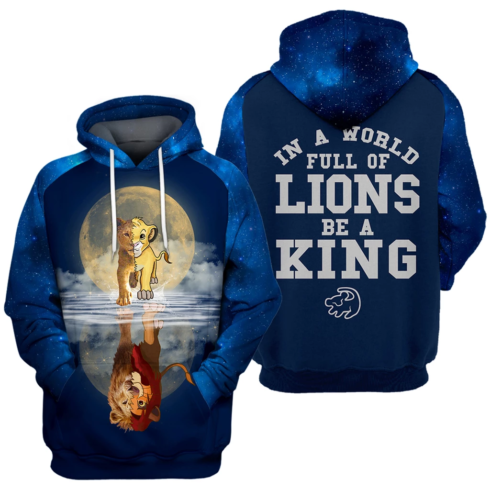 image 28329 490x490px In A World Full Of Lions Be A King 3D Hoodie