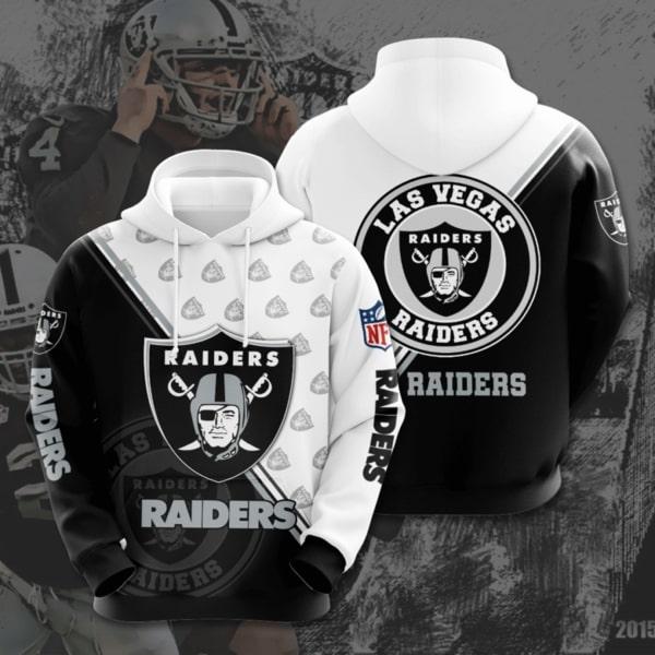 national football league las vegas raiders full printing shirt 2px Las Vegas Raiders 3D Printed Christmas Sweatshirt