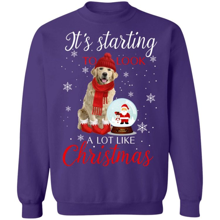 redirect11182020041137 6 750x750px Golden Retriever It's Starting To Look A Lot Like Christmas Shirt