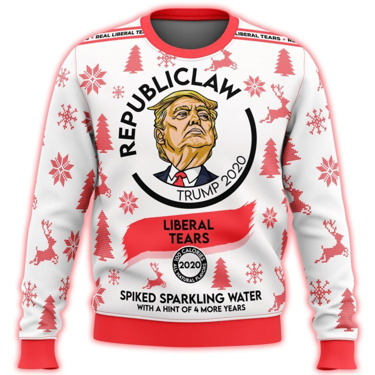 republiclaw liberal tears all over print ugly christmas sweater 2 750x750px Republiclaw Trump 2020 Liberal Tears Nutrition Facts 3D Printed Christmas Sweatshirt