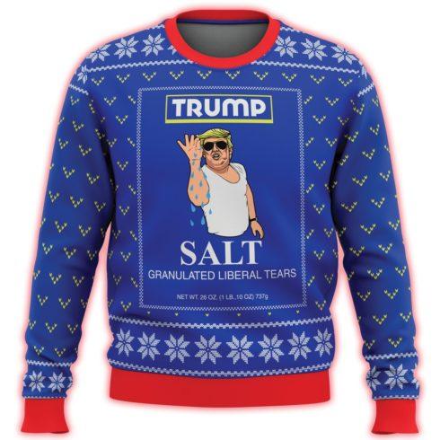trump salt liberal tears all over printed ugly christmas sweater 3 490x490px Trump Salt Liberal Tears All Over Printed 3D Christmas Sweater