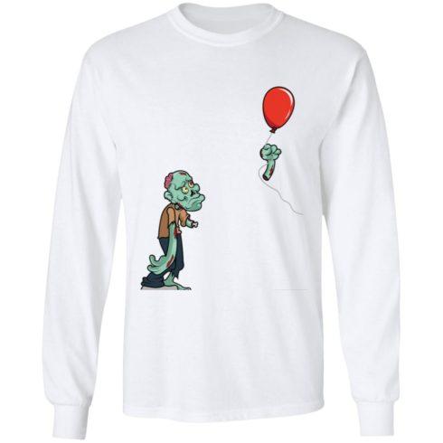 redirect09302021050931 1 490x490px Halloween zombie cut off arm balloon shirt