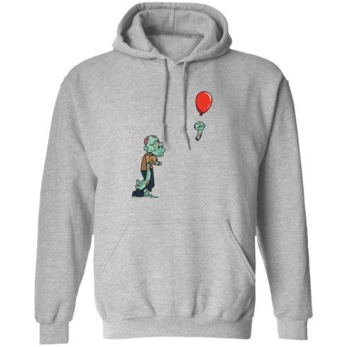 redirect09302021050931 2 490x490px Halloween zombie cut off arm balloon shirt