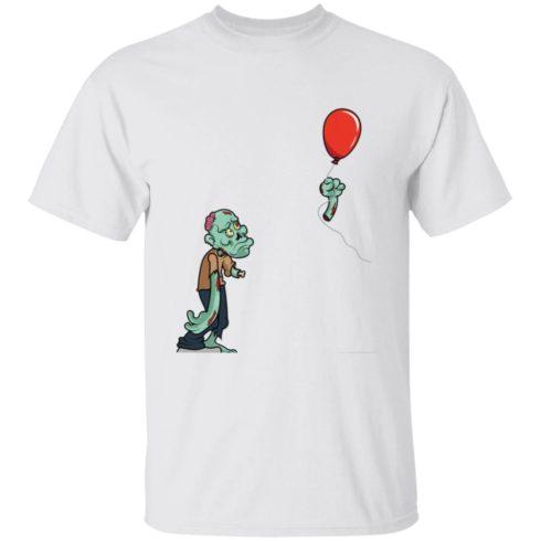 redirect09302021050931 4 490x490px Halloween zombie cut off arm balloon shirt