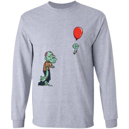 redirect09302021050931 490x490px Halloween zombie cut off arm balloon shirt