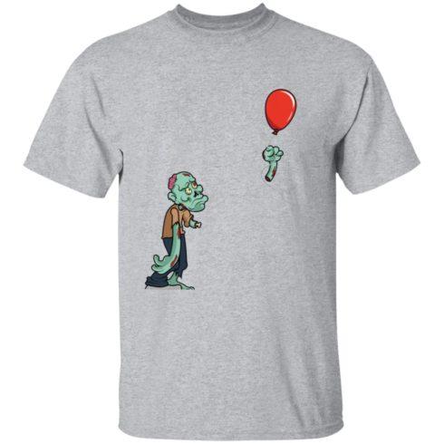 redirect09302021050931 5 490x490px Halloween zombie cut off arm balloon shirt