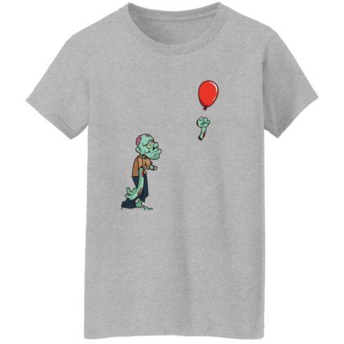 redirect09302021050931 7 490x490px Halloween zombie cut off arm balloon shirt