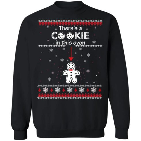 redirect10092021041059 4 490x490px Christmas Couple There's A Cookie In This Oven Shirt