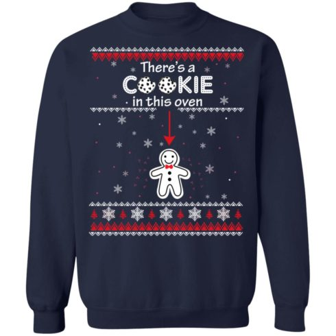 redirect10092021041059 6 490x490px Christmas Couple There's A Cookie In This Oven Shirt
