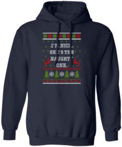 redirect10112021101058 1 247x296px I'm Nice She's The Naughty One Couples Christmas Sweatshirt
