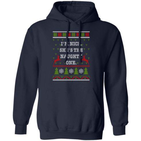 redirect10112021101058 1 490x490px I'm Nice She's The Naughty One Couples Christmas Sweatshirt