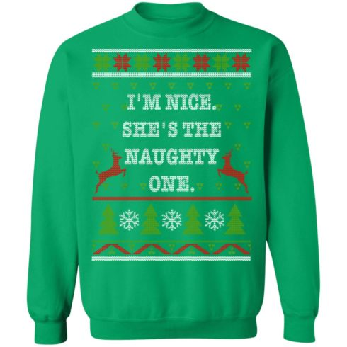 redirect10112021101058 10 490x490px I'm Nice She's The Naughty One Couples Christmas Sweatshirt