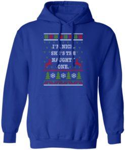 redirect10112021101058 3 247x296px I'm Nice She's The Naughty One Couples Christmas Sweatshirt