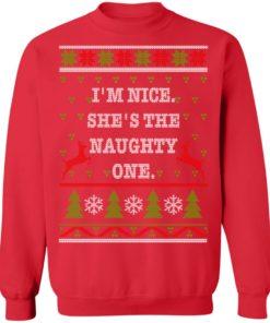 redirect10112021101058 7 247x296px I'm Nice She's The Naughty One Couples Christmas Sweatshirt